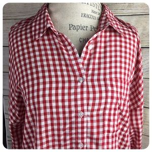 Pink Rose Vintage Picnic Blouse NWT S: L